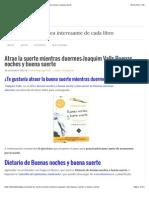 Atrae La Suerte Mientras Duermes-Joaquim Valls-Buenas Noches y Buena Suerte