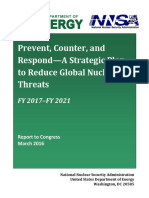 Prevent, Counter, and Respond—A Strategic Plan to Reduce Global Nuclear Threats (FY 2016—2020)