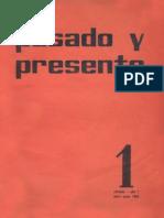 Pasado y Presente, Primera Época, Nº 1, 1963