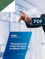Perspectivas de la alta dirección en México 2013