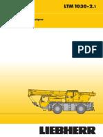 Liebherr LTM 1030-2.1 Mobile Crane_30t_Technical Data