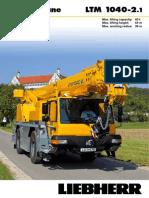 Liebherr LTM 1040-2.1 Mobile Crane_40t_Information