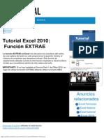 Tutorial Excel 2010_ Función EXTRAE