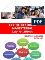 Ley 29944, Ley de Reforma Magisterial.ppt