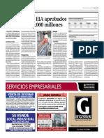 Proyectos con EIA aprobados suman $29,000 millones
