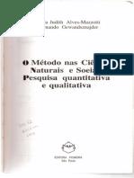 Alves-Mazzotti&Gewandsznajder-O Método Nas Ciências Naturais e Sociais-cap.5-Parte I