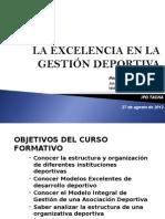 La Excelencia en La Gesticulan Deportiva Curso Ipd de Tacna 2012