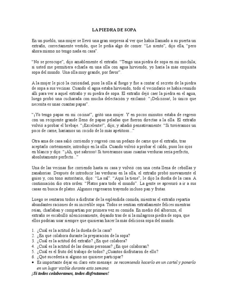 Vistoso Cocina Sopa De Piedra Festooning - Ideas de Decoración de ...