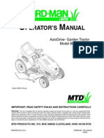 YardMan by MTD Model 804 Manual