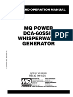Generators Portable Supersilent DCA60SSI2 Rev 3 Std Manual DataId 19056 Version 1