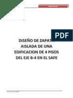 Pasos de Diseño Zapatas Safe