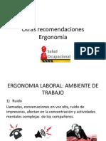 Recomendaciones de ERGONOMIA