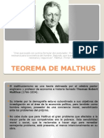 Teoría de Malthus