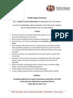 NOCC Scholoarship Criteria FINAL 2015