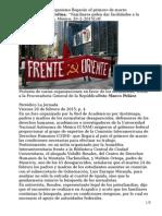 Gómez Mena, Carolina. ''Familiares Piden Dar Facilidades a La CIDH'' [La Jornada; Méxi-co; 20–2–2015]