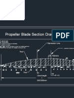 Propeller Blade Section Profile using Wageningen B-screw series