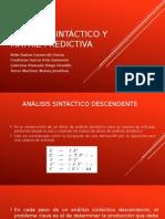 Análisis Sintáctico y Matriz Predictiva