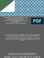 Normas de aplicación a las cuentas de activo.NORMAS INTERNACIONALES DE AUDITORIA.
