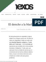 El Derecho a La Blasfemia - Luis González de Alba
