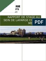 Stage de Lafarge 2eme Annee