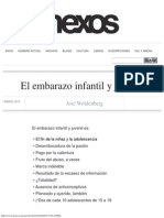 El Embarazo Infantil y Juvenil - José Woldenberg