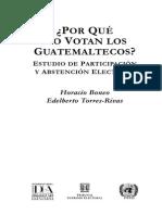 Por Que No Votan Los Guatemaltecos Torres Rivas Boneo