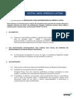 Edital America Latina 1º 2015
