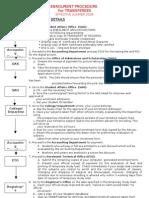 Enrolment Procedure for Transferees
