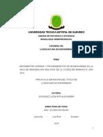 Tesis Final Aplicacion de Normas y Procedimientos de Bioseguridad en La Sala de Hemodialisis Dial Rios Babahoyo 2015