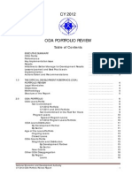 CY2012 ODA Portfolio Review Full Report