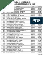 Lista de Beneficiados Becas Irapuato 2015