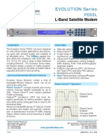 Paradise Datacom PD55 Evolution L-band Satellite Modem Data Sheet 205084 RevL