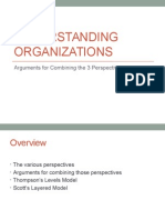 Understanding Organizations - Arguments for combining perspectives