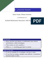 The q Binomial Theorem