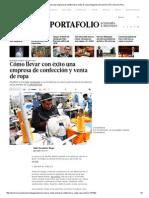 Cómo Llevar Con Éxito Una Empresa de Confección y Venta de Ropa _ Negocios _ Economía _ El Comercio Peru