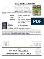 Jodo Mission of Hawaii Bulletin - April 2015