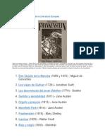 100 Grandes Novelas de La Literatura Europea
