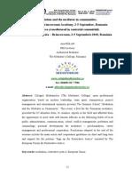 4. Ana Balan. Medierea Si Mediatorul in Contextul Comunitatii. Academia Sambata – Brancoveanu, 2-5 Septembrie 2010, Romania. Vol II No 1