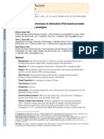 Comparative Effectiveness of Alternative PSA-based Prostate Cancer Screening Strategies