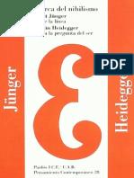 Acerca Del Nihilismo – Martin Heidegger y Ernst Junger