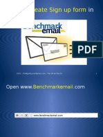 How to Create Sign Up Form in Benchmarkemail
