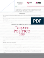 Convocatoria Debate Politico 2015