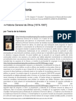 ✍ Historia General de África [1974-1987] _ Teoría de la historia