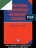Structural Lightweight Aggregate Concrete (John l.clarke)