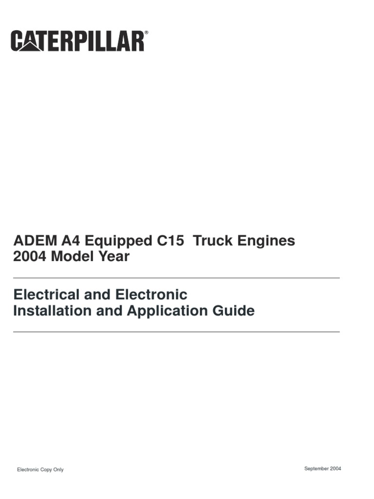 adem a4 equipped c15 truck engines electrical and electronic rh scribd com