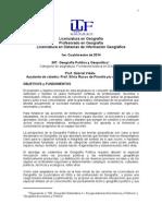Programa Geo Política y Geopolítica 2014 -PreDEF - V de Trabajo 2014 0402