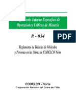 Regalmento de Transito Codelco_Chile