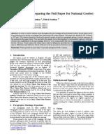 National Geofest Paper Format