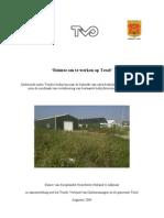 Rapportage ruimte om te werken op Texel