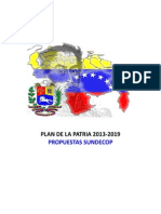 Propuestas Sundecop Plan de La Patria 2013 2019
